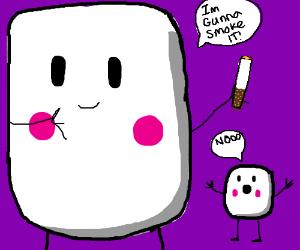 Marshmallow giant about to do nasty stuff