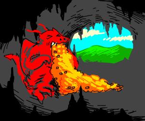 dragon barfs gold