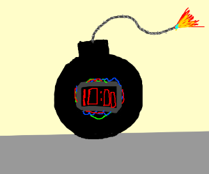 bomb with a 10 minute timer drawing by pwalls5103 drawception