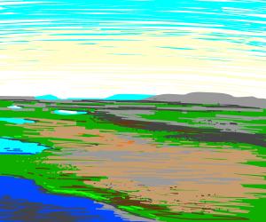 A serene landscape