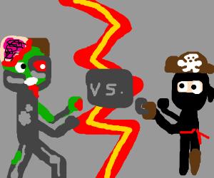 Zombie robot vs. ninja pirate