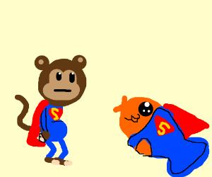 super monkey and super fish?