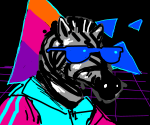 Zebra is trapped in the 80's dimension