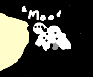 A cow jumped over the moon.