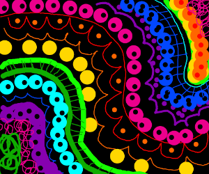 Dropping acid and everything is eyeballs.