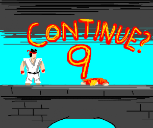 Ryu has defeated Ken! Continue?
