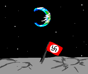 Nazi flag on the moon