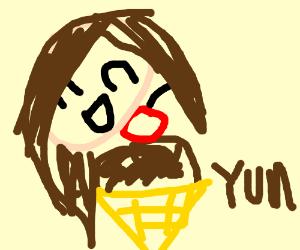 I 3 Chocolate Ice Cream Emoji Drawing By Lucielovesdogs