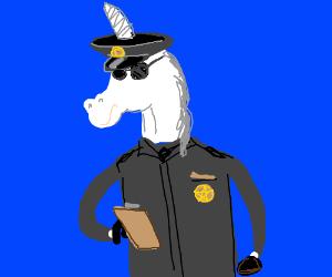 Unicorn police officer