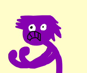 Triggered purple haired dude