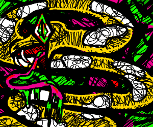yellow snake with white blotches