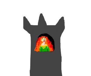 A princess in a castle