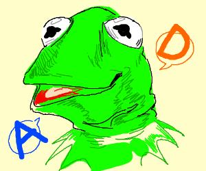Kermit head says AD