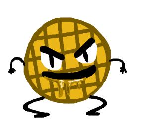 Evil waffle drools syrup