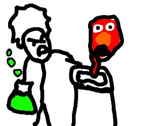 Mad scientist animates Yellmo
