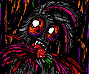 Vampire Bunny Preys on Strawberry. #Deadberry