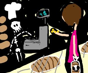 Skeleton bread