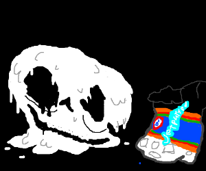 Melty Marshmallow Skull