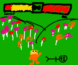The lorax in an epic battle