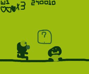 Elmo in Super Mario Bros. game