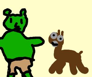 Shrek assuming donkeys gender
