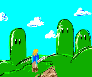 Link in mario's world