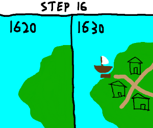 Step.16 A decade goes by a colony rises up.