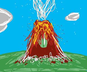An exploding Cyclops volcano