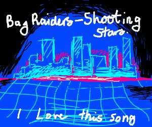 Bag Raiders Shooting Stars Drawception