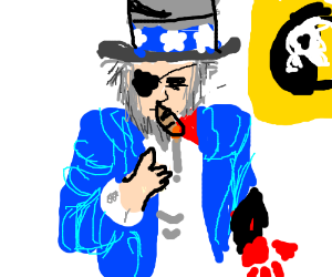 uncle sam is a grizzled war hero