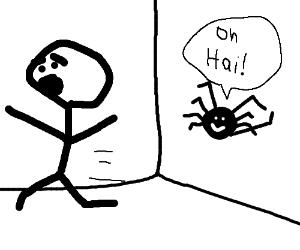 "Nice spider waves. ""Oh Hai!"""