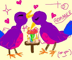 Purple Bird romance, also a hidden Lenny.