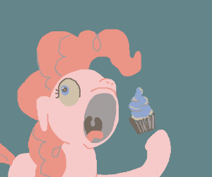 Eating a cupcake whole