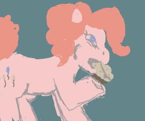 Pinkie pie devouring a muffin