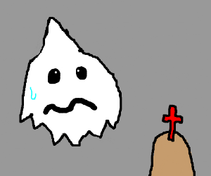pointy ghost doesn't like christianity