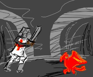 Knight Vs Teeny Tiny Red Dragon