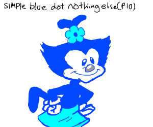 Make a simple blue dot, nothing else pio
