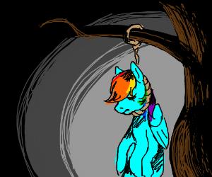 Rainbow Dash hangs herself