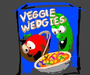New cereal: Veggie Wedgies
