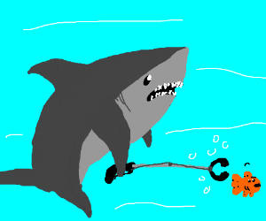 Shark with one of those claw grabbing things