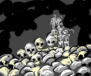 Spooky scary skeletons drawception - Scary skeleton games ...