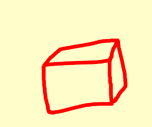 A red cube
