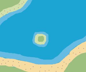 A tiny little round island
