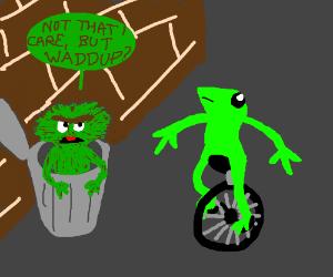 DAT BOI meeting Oscar (The Mupets)