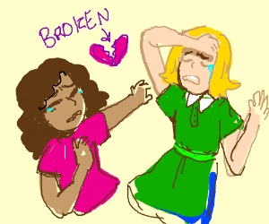 broken hearted couple :(