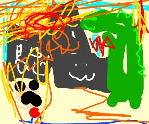 Godzilla attacks the city