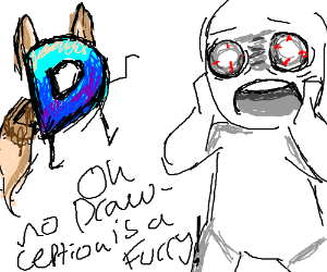 oh no! drawception is a furry!