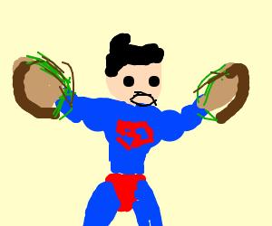 Superman Rips A Sandwich In Half