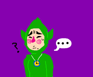 Young tingle looks concerned