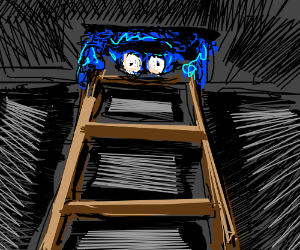 Cookie Monster comes out of the attic